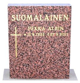 Punainen hautakivi 40 x 50 539 €