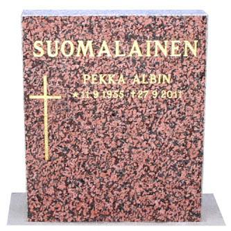 Punainen hautakivi 50 x 60 719 €